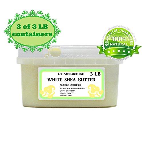 Premium High Quality Shea Butter WHITE Unrefined Raw Organic 9 lb