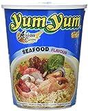 Yum Yum Instant Noodles Cup Seafood - Paquete de 12 x 70 gr - Total: 840 gr