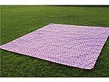 ZFFde Tragbare Picknickdecken Wasserdichte Sand-Beweis-Acryldecke Krabbelnde Matte Schlafende Picknick-Matte für draußen (Rot + Weiß) (Farbe : Pink, Größe : 145x145cm)