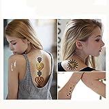 KEERADS Tatouage temporaire Glitter métallisé tatouage autocollant fluorescent étanche en argent argent tatouage