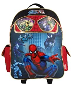 spiderman rucksack mit rollen koffer. Black Bedroom Furniture Sets. Home Design Ideas