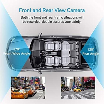 Dashcam-Auto-Vorne-Hinten-Full-HD-1080P-Autokamera-32-Zoll-IPS-Bildschirm-mit-720P-Rckfahrkamera-Nachtsicht-170Weitwinkelobjektiv-G-Sensor-WDR-Loop-Aufnahme-Bewegungserkennung-Parkmonitor