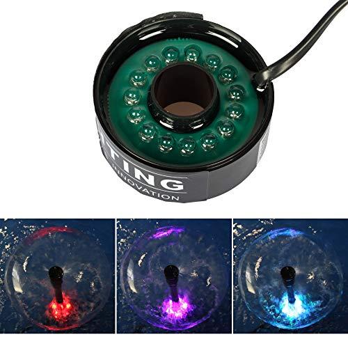 Yorbay Unterwasser RGB LED-Leuchten mit 4.8 Meter Stromkabel, für Tauchpumpe Springbrunnenpumpe Wasserspielpumpe Gartenteich -
