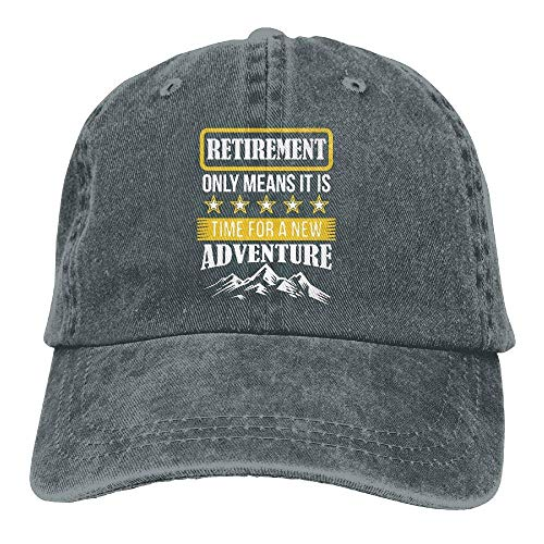Hoswee Baseballmütze Hüte Kappe Retirement Only Means Time for A New Adventure Unisex Truck Baseball Cap Adjustable Hat Sandwich Peaked Caps Sun Hat (Adventure Time Hüte)