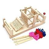 HNBGY Einzigartig Hölzernes spinnendes Webstuhl-Maschinen-Modell, DIY Brocaded Engineery chinesischer traditioneller Holztisch-spinnendes Webstuhl-Maschinen-Modell-Handwerks-Spielzeug