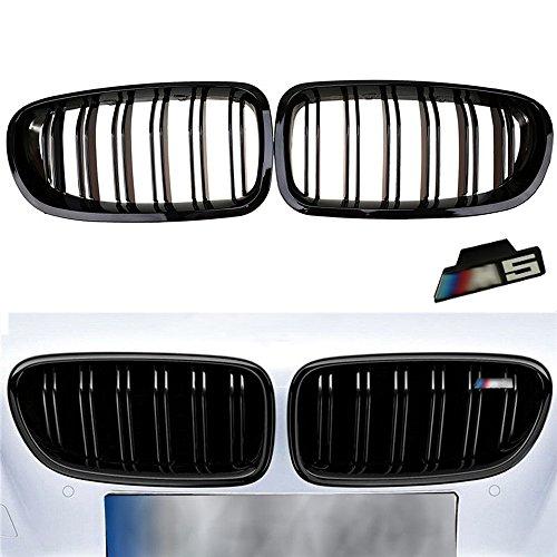 Ricoy vorderes Doppel-Nieren-Gitter mit M5Emblem, Schwarz, glänzend (1Set) (Emblem Bumper Front)