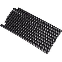 Barras de Pegamento Palillos de Pegamento Caliente, Paquete de 10 Unidades de Pegamento Termofusible, Tamaño del Barras de Pegamento 7 x 150 mm(Black)