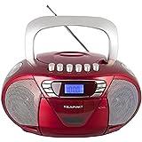 Blaupunkt Boombox 11 PLL   tragbares CD-Radio mit Kassettenplayer inklusive Aux In, Kopfhöreranschluss, LED-Display, Backlight, 2x 2,2 Watt RMS, PLL UKW Tuner   CD Player bestens geeignet für Kinder