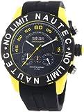 Nautec No Limit Herren-Armbanduhr XL Zero-Yon 2 Chronograph Quarz Kautschuk ZY2-H1 QZ/RBPCBKBK-YL
