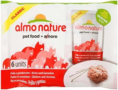 Almo Nature : Pochon Poulet Et Crevette : 6x55 G