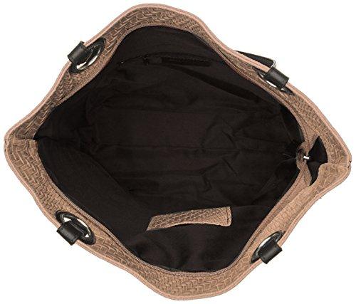 Chicca Borse 80060, Borsa a Mano Donna, 40x34x10 cm (W x H x L) Marrone (Fango)