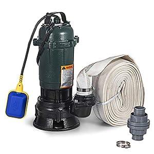 Moracle Bomba de Agua Sumergible 500W Bomba Sumergible Eléctrica 20M Bomba de Agua Residuales Domésticas Bomba de Alta Presión para Pozos de Agua (20M)