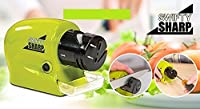 Hotdeal Market Electric Knife Sharpener Tool 3-in-1 – Sharpening Machine for Knives Scissors & Screwdrivers – 2 Stage Multi-Angle Sharpen Kitchen Appliance Kit