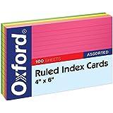 Esselte Corporation ESS99755 Oxford Index Cards Glow 4 X 6