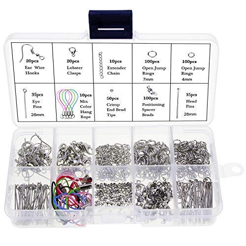 cead1253102c keesin 480 unidades bisutería Herramientas Kit hechas a mano DIY accesorios  de Pin Cadena perlas para