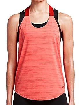 de la Mujer Nike Elastika Heather tanque, rojo