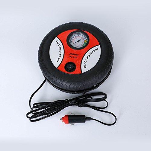 FUSKANG Portable Tire Inflator, 12V Luft Kompressor Reifenpumpe, 5 Min Tire Inflation, 19-Zylinder Mini-Pumpe Auto aufblasbare elektrische Pumpe (Portable Luft-pumpe Für Auto)