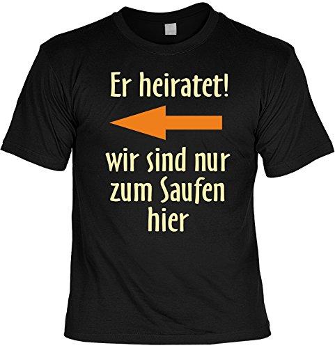 witziges und tolles T-Shirt: Er heiratet Farbe: schwarz Schwarz