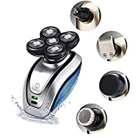 Botten head shavers for bald men,mens Head Shaver Cordless razor Rotary 5 in 1 Kit Hair Clippers,Waterproof Quick USB Rechargeable with 4D electric shaver 5 Head Razor