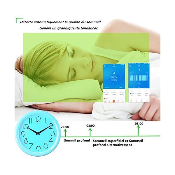 MISSJJ Reloj Inteligente para Mujer Hombre Niños, Pulsera Actividad Impermeable IP67, Podómetro, Control Remoto de Cámara, Recordatorio Sedentario 3