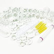 57 piezas moldes, alisadores y émbolos para decoración de tartas/galletas – formas de