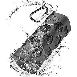 Enceinte Bluetooth Portable, 20W Haut-Parleur Bluetooth Enceinte Portable sans Fil, Pilote Double, Basses Puissantes, Mains Libres, 24 Heures Playtime et 5200mAh Charge pour Votre Téléphone