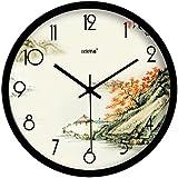 Paisaje creativo de salon moderno reloj de pared reloj de pared reloj de cuarzo,35 * 35 cm