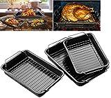 Elitezotec  Set di 3teglia per arrosti, griglia di Cottura teglia da Forno Bakeware Antiaderente