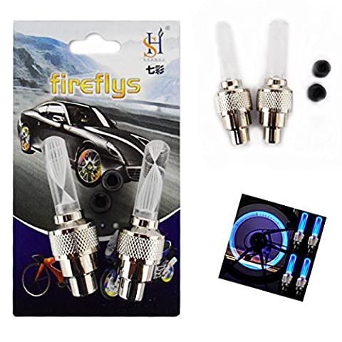 LED Auto Changing Car Light Van Multi Colour Bicycle Motorcycle Valve Tire Wheel Pack of 2