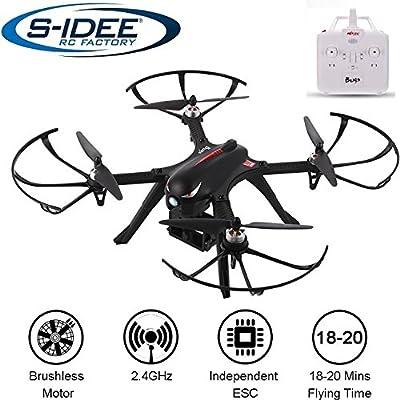 s-idee® 01658 Bugs 3 Drohne Brushless Motoren MJX Serie Quadrocopter Control Distance, bis zu 20 min. Flugzeit VR Drohne, Gopro / Hero Action-Kamera VR möglich von s-idee®