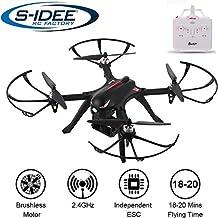 s-idee® 01658 Bugs 3 Drohne Brushless Motoren MJX Serie Quadrocopter Control Distance, bis zu 20 min. Flugzeit VR Drohne, Gopro / Hero Action-Kamera VR möglich