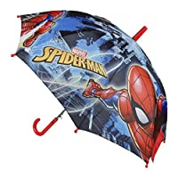 Spiderman 2400000355 Automatic Umbrella, Red (Rojo 001), 45 cm