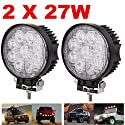 2 X 27W LED Offroad Flutlicht Reflektor Scheinwerfer Arbeitslicht SUV, UTV, ATV Arbeitsscheinwerfer Zusatzscheinwerfer Offroad Scheinwerfer 12V 24V