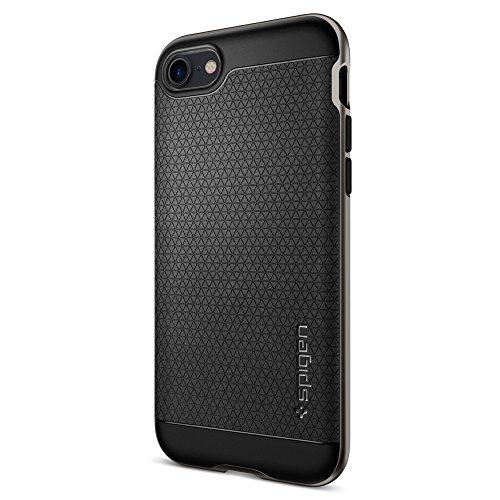 Coque iPhone 7, Spigen [Neo Hybrid] PREMIUM BUMPER [Gunmetal] Slim Fit Dual Layer Protective Housse Etui Coque Pour iPhone 7 (2016) - (042CS20518)