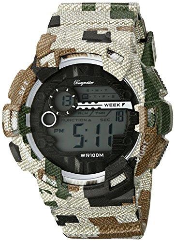 Burgmeister Men's Quartz Watch with LCD Dial Digital Display and Multicolour Plastic Bracelet BM803-027