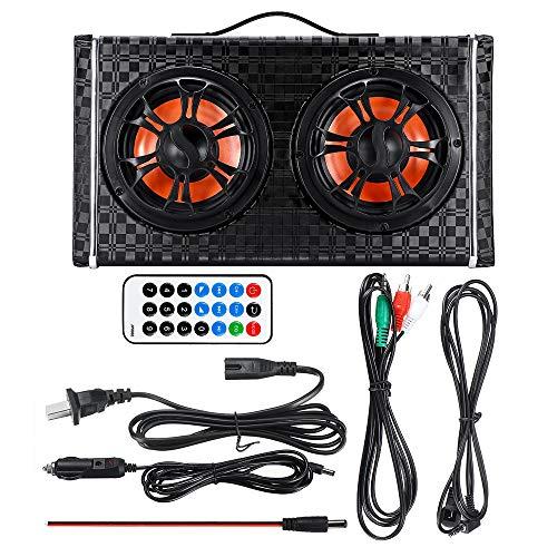 Hadeyicar 6 Zoll DC 12 V / 24 V drahtlose Bluetooth Auto subwoofer Lautsprecher verstärker AC 100-240 V Home Stereo Lautsprecher Audio FM Radio (Home-subwoofer-verstärker)