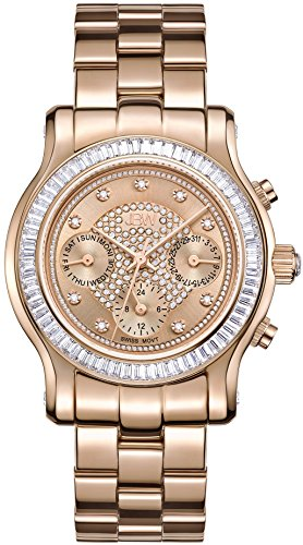 JBW WOMEN'S LAUREL 38MM ROSE GOLD PLATED BRACELET SWISS QUARTZ WATCH J6330C