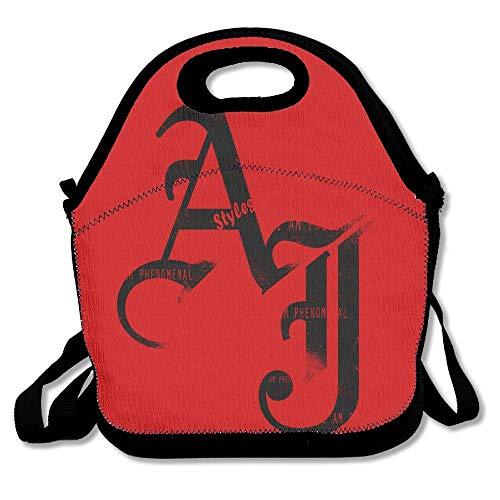 67815c27561c AJ Styles Logo Wrestling Lunch Bag Tote