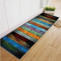 Jellbaby Alfombra rectangular para baño, salón, alfombrillas antideslizantes absorbentes, Color 2,40X120CM