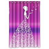 Princesse de conte de fées de Beautiful. Papillons transformé en une robe. Le fond est progressivement changement violet conception matériaux écologiques imperméables Mildiou de salle de bain, rideau de douche série, 120 cm x183 cm (48x72 pouces).