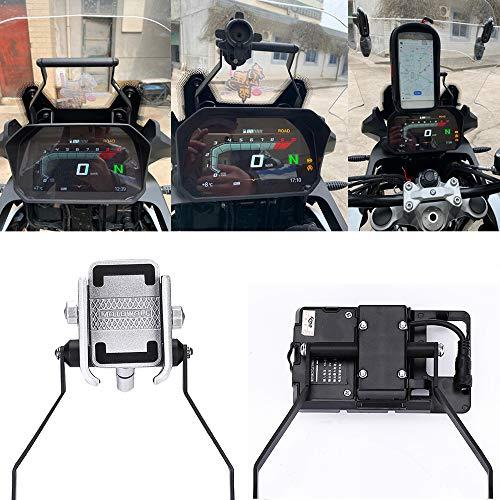 Lasamot Soporte de navegación GPS para Motocicleta Soporte de Barra Frontal Soporte...