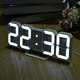Krevia Multi-use 8 Shaped LED Display Desktop Digital Table Clocks 3 levers of