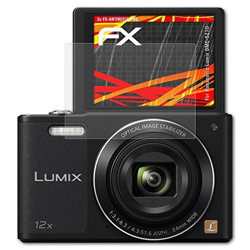atFoliX Folie für Panasonic Lumix DMC-SZ10 Displayschutzfolie - 3 x FX-Antireflex-HD hochauflösende entspiegelnde Schutzfolie