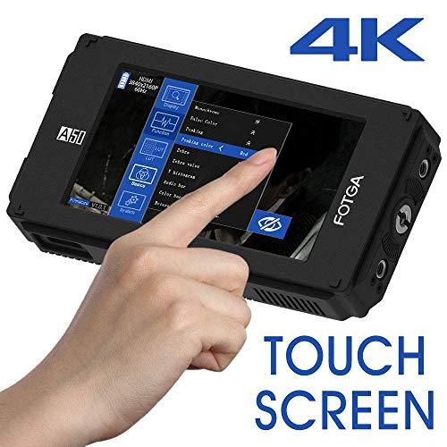 Fotga DP500IIIS A50T 5-Zoll FHD DSLR Video Kamera Field Monitor Touch Screen 1920x1080, HDMI 4K-Eingang/Ausgang, Dual NP-F Batterieplatte für Sony A9 A7SII Canon 5D III IV Panasonic GH4/5 Nikon D850 Dslr-video