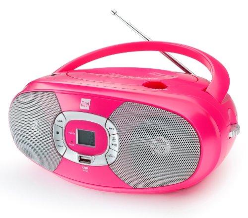Dual P 390 Portable Boombox (CD-Player, Radio UKW/MW, Kopfhöreranschluss) Pink - Boombox Radio Portable