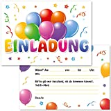 Cardsflow Ballon Einladungskarten mit Umschlägen (12 Stück)