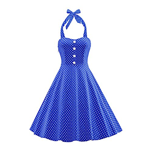 er Polka Dots Kleid in mehreren Farben und Größen,Blue,XL (Männer, Die In Den 20er Jahren)