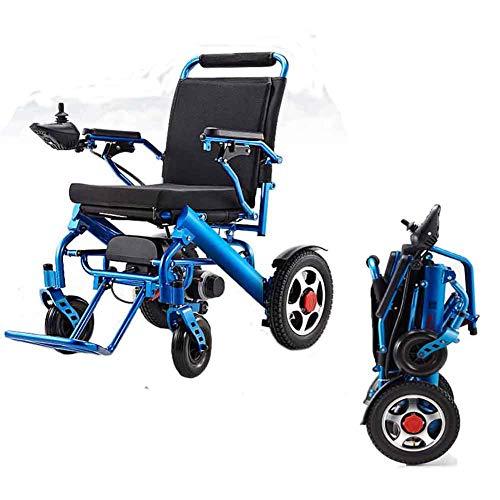 Gun ndy Carrozzina disabili,Aiuto Medico Pieghevole per la Mobilità della Sedia a rotelle elettrica Leggera motorizzato