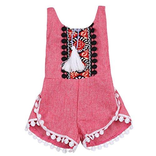 Bekleidung Longra ärmellose Strampler Baby Kinder Mädchen Sommerkleidung