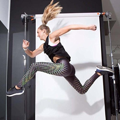 Pantalon de Yoga femmes,Jimma Femmes Yoga Legging pantalons de sport impression 3D Sports gymnase d'entraînement Fitness Vert
